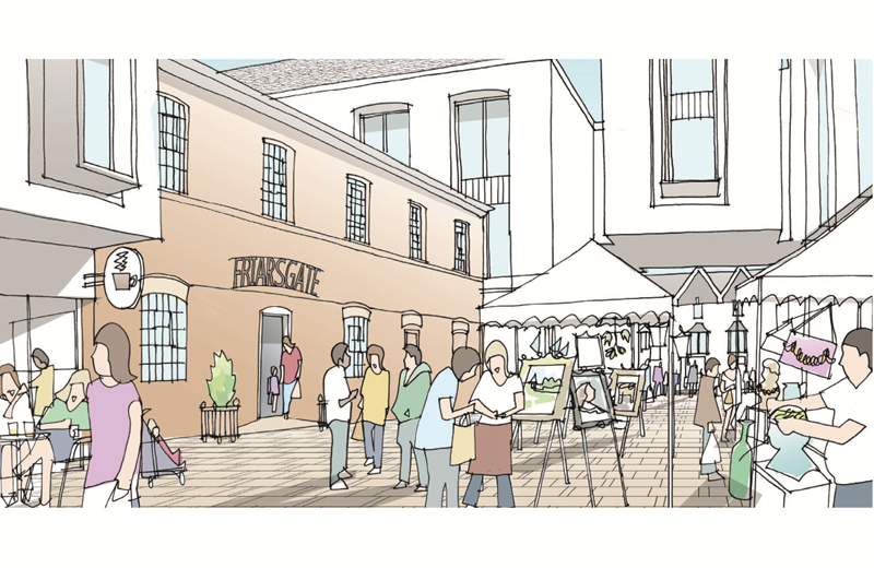 Artists impression - Friarsgate