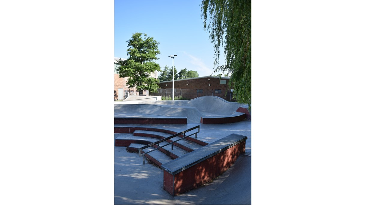 North Walls Recreation Ground Skatepark, River Park Leisure Centre, City Centre
