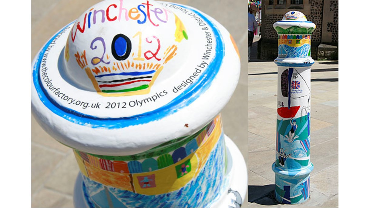 Olympics 2012 designed by Winchester & District Young Carers