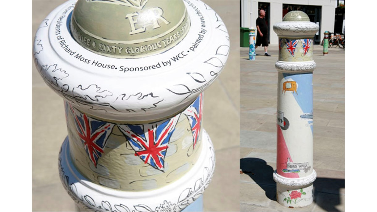 Community Bollard: Queen's Diamond Jubilee 2012 designed by the Residents of Richard Moss House
