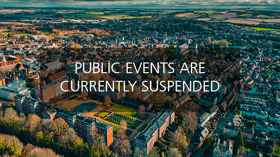 Public events currently suspended