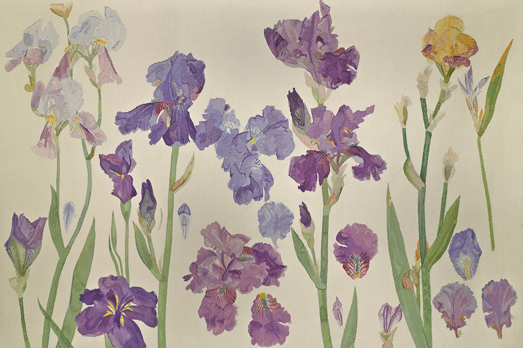article thumb - Irises (detail), 1987, tapestry © The Fleming-Wyfold Art Foundation